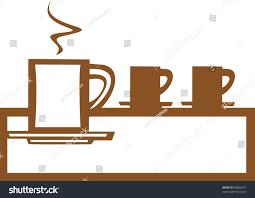basic coffee mug design good posters stock vector 36886372