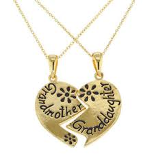 grandmother granddaughter necklace 18k gold plated heart family grandmother granddaughter necklace