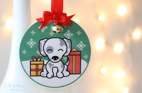 diy laminated ornaments destei dogs