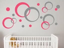 geometric wall decal bubbles circles retro wall decor peel and