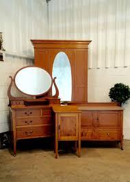 Edwardian Bedroom Furniture by Antique Edwardian Satinwood Four Piece Bedroom Suite C1900