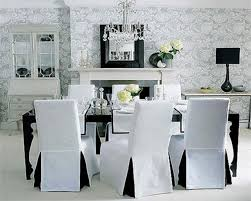 Fabric Dining Chair Covers White Fabric Dining Chair Cover With Length Skirt