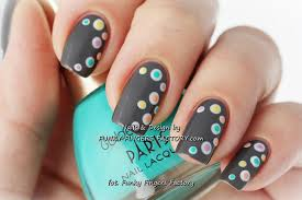 grey spotty nails funky fingers factory