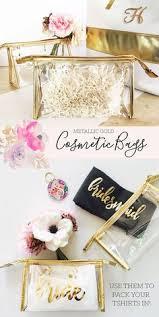 Bridal Party Makeup Bags Tropical Beach Canvas Cosmetic Bags Beach Bridal Showers Beach