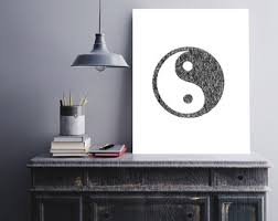 Yin Yang Table by Yin Yang Art Etsy