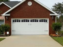 Decorative Garage Door These Are Fake Windows And Hardware On A Plain White Garage Door