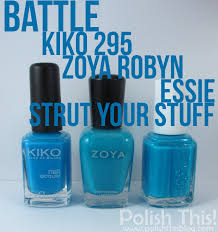nail polish battle kiko 295 vs zoya robyn vs essie strut your