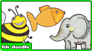 10 easy animal drawings for kids vol 1 step by step drawing