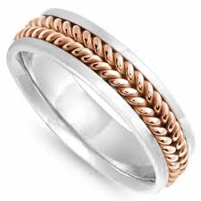 wedding ring depot 14k two tone gold coil braid band 6mm 3008811 shop at wedding
