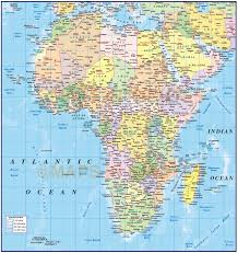 World Map Of Africa by Digital Vector Map Of Africa Region Political With Ocean Contours