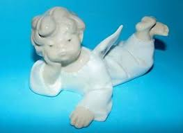 lladro ornament figurine cherub lying 4541 1st quality