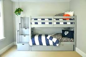 Bunk Bed Storage Pockets Bunk Beds With Shelves Bunk Bed In White With Staircase
