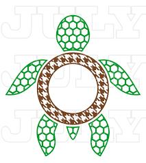 turtle monogram frame turtles svg cut files turtle svg svg dxf