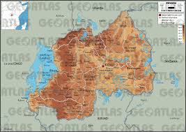 Burundi Map Geoatlas Countries Rwanda Map City Illustrator Fully