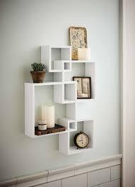 designer wall shelves white decorative shelves closet ideas