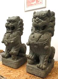 gold lion statues 3ft large foo dog lion statues buddhist temple imperial palace fu