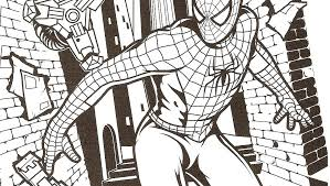 spiderman coloring printable spiderman coloring pictures