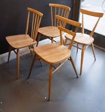 Ercol Dining Chair Selection Of Four Vintage Ercol Dining Chairs No 2 Ebay