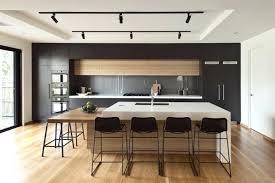 cuisine contemporaine blanche et bois cuisine comtemporaine cuisine contemporaine avec ilot centrale