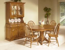 Intercon Furniture Classic Oak Piece Solid Oak Pedestal Dining - Oak dining room sets with hutch
