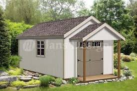 20 u0027 x 12 u0027 guest house garden porch shed plans p72012 free