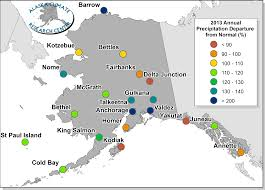 Nome Alaska Map by 2013 Annual Statewide Summary Alaska Climate Research Center