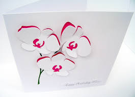 orchid card flowers personalised card mother u0027s day