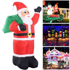 gym equipment santa claus christmas waterproof inflatable waved
