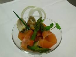 oignon blanc cuisine pana cotta d oignons blancs salade d asperges vertes coques et