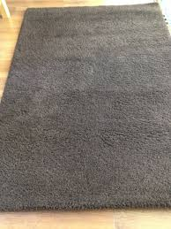 ikea chocolate brown rug approx 136w x 200l cms thick tufted