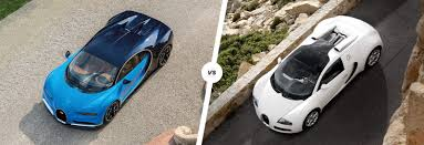 bugatti chiron vs veyron speed stats comparison carwow