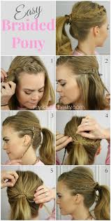easiest type of diy hair braiding 14 braided ponytail hairstyles new ways to style a braid