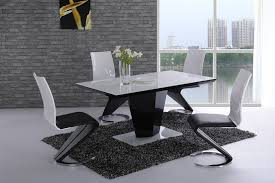 black and white kitchen table contemporary dining tables plan ideas thedigitalhandshake furniture