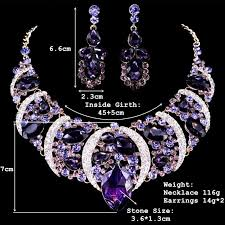 big crystal statement necklace images Fashion bohemian big leaves rhinestone created crystal drop jpg