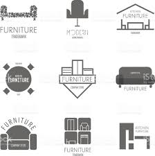 logo badge or label inspiration with furniture stock vector art