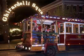 classic cable car holiday lights tour in san francisco