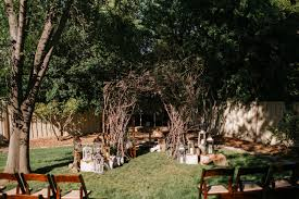 romantic relaxed backyard wedding heidi joshua green wedding