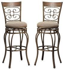 swivel bar stools set of 2 traditional bar stools and counter