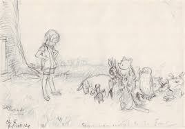 original art stories winnie the pooh pencil sketches