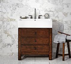 Bathroom Sink Console Table Mason Single Sink Console Rustic Mahogany Finish Pottery Barn