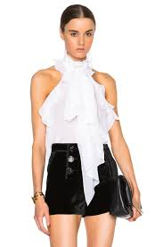 sleeveless ruffle blouse emilio pucci sleeveless ruffle blouse in white fwrd