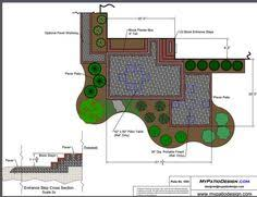 Patio Layouts by Rased Patio With Steps Patio Designs U0026 Ideas Plan No 1013 24
