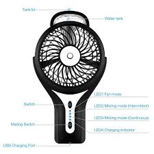battery operated misting fan black portable battery operated misting fan with rechargeable battery