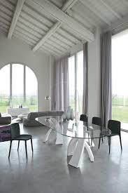 tavoli per sale da pranzo tavolo ovale design piano in vetro per sale da pranzo idfdesign