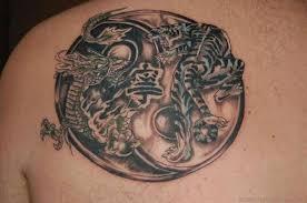 54 yin yang tattoos on back