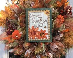 fall autumn thanksgiving deco mesh wreath