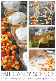 fall dissolving candy corn stem activities kitchen science build