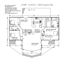 log cabins house plans log home plans c ulrich 2600 square by b h cedar log