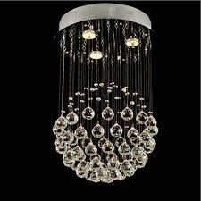 bedroom modern single ball crystal lamp simple led living room