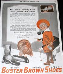 retro ad of the week buster brown shoes 1919